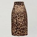 Leopard pinup falda estilo vintage ropa de mujer XXL novedad animal print party club lápiz faldas algodón modcloth 40's 60 s jupe