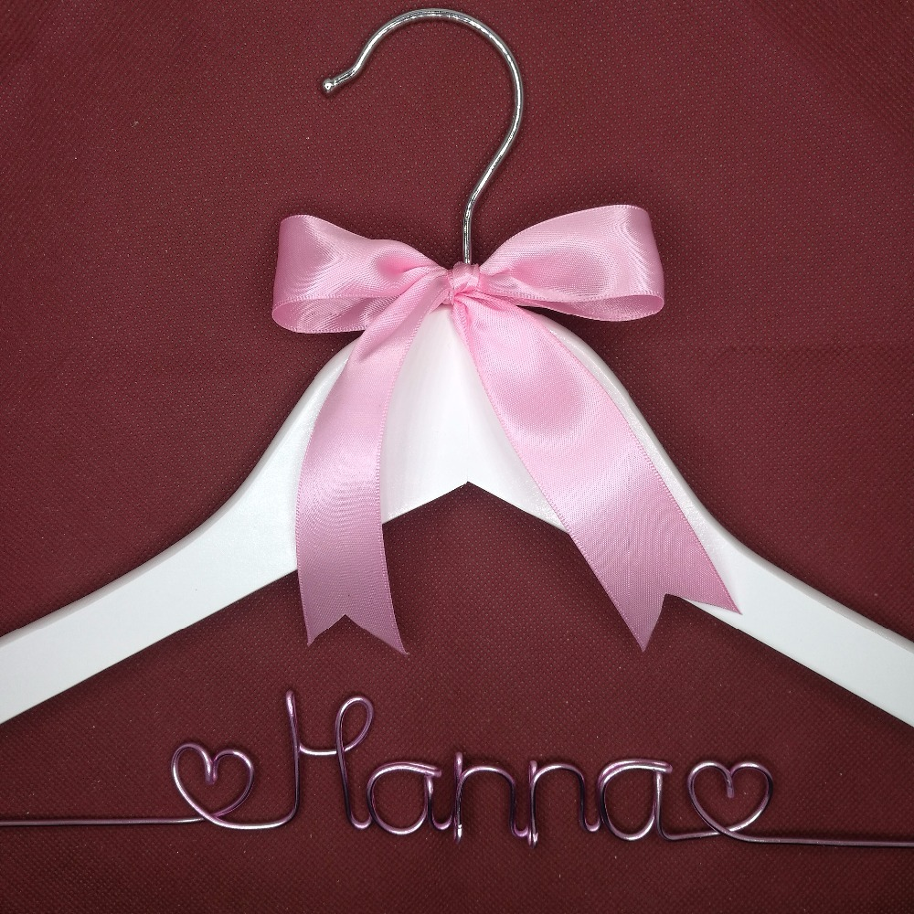 Free shipping pearl Personalized Wedding Hanger, bridesmaid gifts, name hanger, brides hanger with pearls