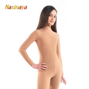 Image 2 - Nasinaya Figure Skating Leotard Suit Jumpsuit For Girl Kids Women One Piece Customized Patinaje Ice Skating Costume Gymnastics 1