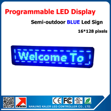 Semi-Outdoor Led Display 16*128 pixels 1/4 Scan Programmable and Scrolling Message LED Screen USB Input Running Text Led