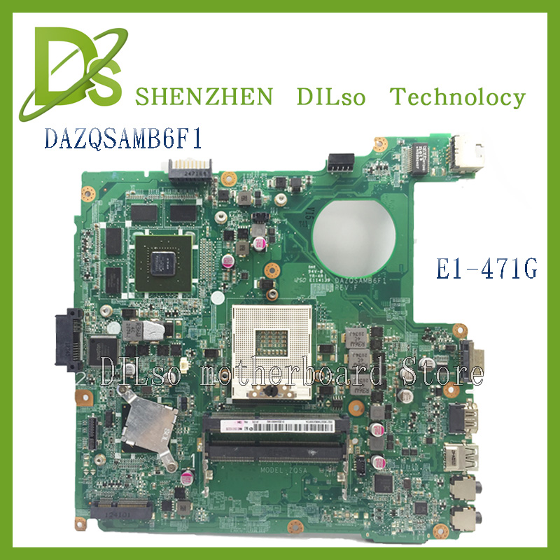 KEFU DAZQSAMB6F1 For Acer E1-471 E1-471G aspire DAZQSAMB6F1 laptop motherboard DDR3 E1-471 mainboard 100% tested motherboard laptop motherboard fit for acer aspire 3820 3820t notebook pc mainboard hm55 48 4hl01 031 48 4hl01 03m