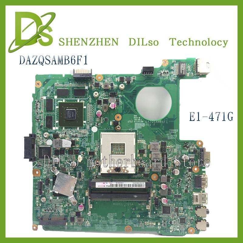 KEFU DAZQSAMB6F1 For Acer E1-471 E1-471G Aspire DAZQSAMB6F1 Laptop Motherboard DDR3 E1-471 Mainboard Test Motherboard