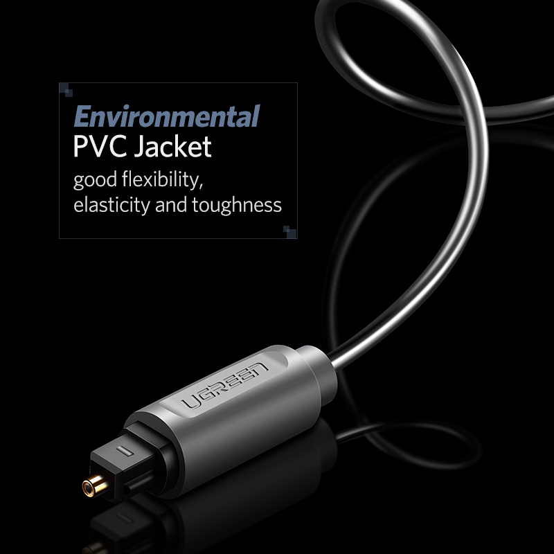 Ugreen Digital Optical Audio Cable Toslink 1m 3m SPDIF Coaxial Cable for Amplifiers Blu-ray Player Xbox 360 Soundbar Fiber Cable 8