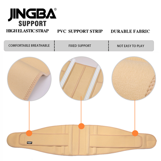 JINGBA SUPPORT mens waist trimmer Weight Loss slimming belt neoprene fitness belt back waist support Sweat belt waist trainer 4