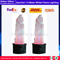 2pcs/lot Stage Effect LED lamp silk 1.5 meter white Fake simulative fire flame lighting artificial flame blow machine