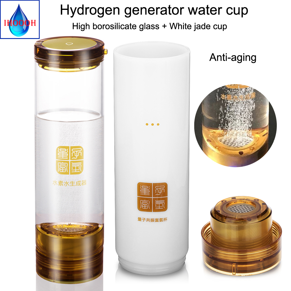 Hydrogen generator Anti-Aging hydrogen rich water ionizer Wireless transmission alkaline bottle 600ML