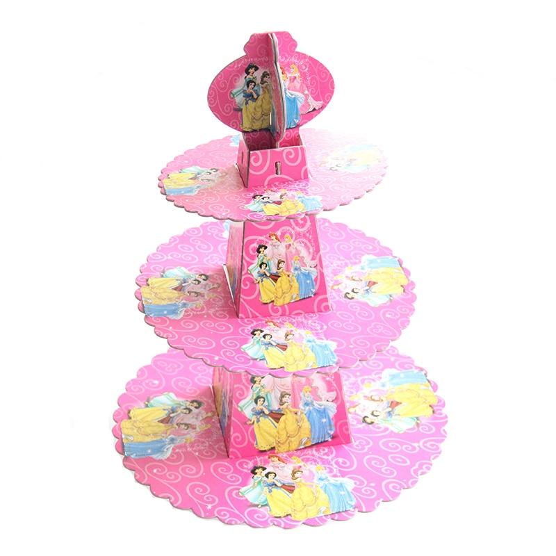 1 Juego De Dibujos Animados Princesa Niños Fiesta De Cumpleaños Decoración Pastel Soporte Accesorio