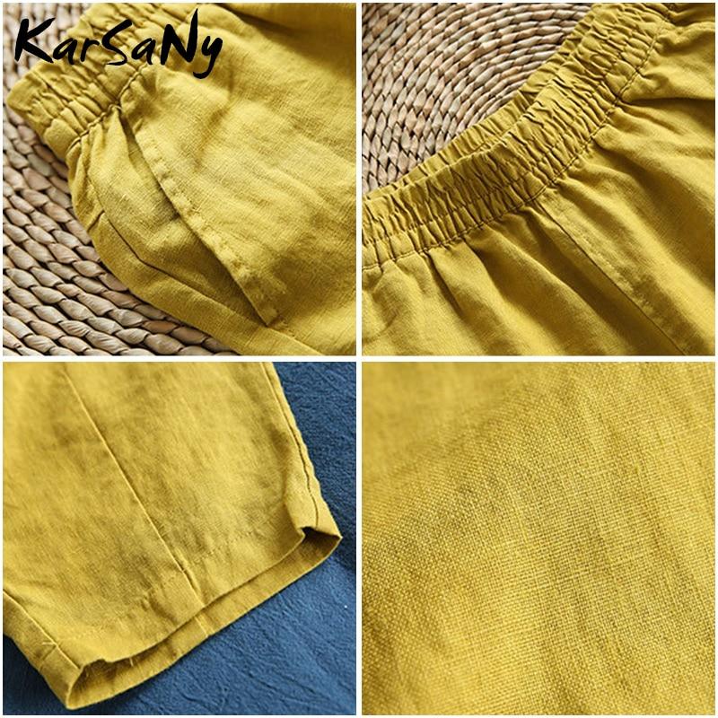 Summer Women 39 s Linen Harem Pants For Women Pant Female Summer Cotton Linen Trousers Women Plus Size Loose Pants Capris White in Pants amp Capris from Women 39 s Clothing