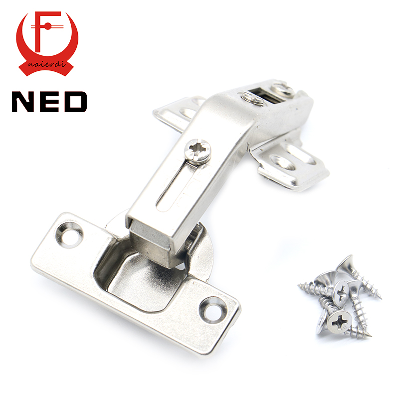 NED 135 Degree Corner Fold Cabinet Door Hinges 135 Angle Hinge Furniture Hardware For Home Kitchen Bathroom Cupboard With Screw black titanium 180 degree hinge open 304 stainless steel glass shower door hinges for home bathroom furniture hardware hm156