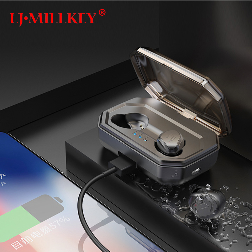 TWS 5.0 Bluetooth Earphone Touch Control Stereo Music In-ear Type IPX6 Waterproof Wireless Earbuds with Charging box YZ209 mini tws v5 0 bluetooth earphone port wireless earbuds stereo in ear bluetooth waterproof wireless ear buds headset yz209