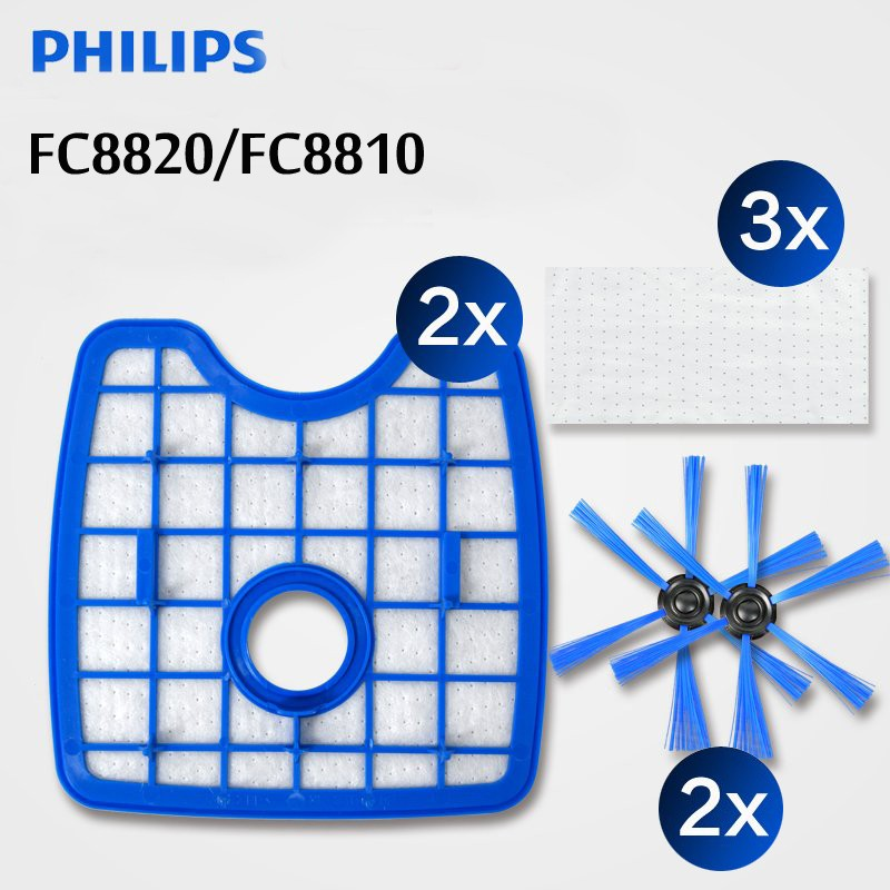 7pcs/lot vacuum cleaner hepa filter*2+round brush*2+floorcloth*3 for Philips Robot FC8820 FC8810 FC8066 robot accessories free shipping vacuum cleaner 2 filter screen 2round brush 3floorcloth for philips robot fc8820 fc8810 sweeping robot accessories page 5