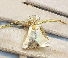 200 unids 11*16 cm bolso de lazo bolsas de mujer de la vendimia de oro para La Boda/Fiesta/de La Joyería/de la Navidad/bolsa de Envasado Bolsa de regalo hecho a mano diy