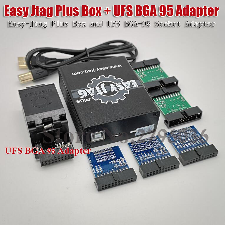 Latest Version  Easy Jtag Plus Box Easy-Jtag Plus Box +  UFS BGA 95 Socket Adapter