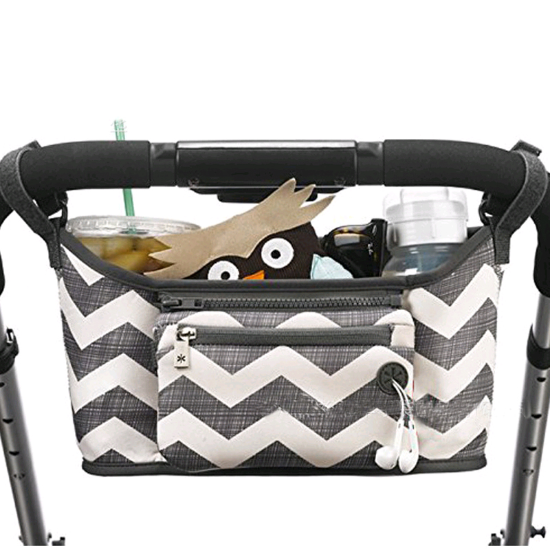 Cartoon Baby Stroller Organizer Bag Large Capacity Diaper Bag Waterproof Bebe Carriage Storage Bag For Pram Stroller Accessories