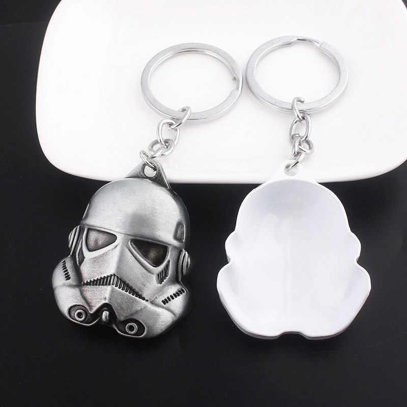 SG כוכב מלחמת Keychain לבן חיילי מפתח שרשרת Stormtrooper שחור לוחם דארת חללית פלקון תליון רכב Keyring תכשיטי גברים