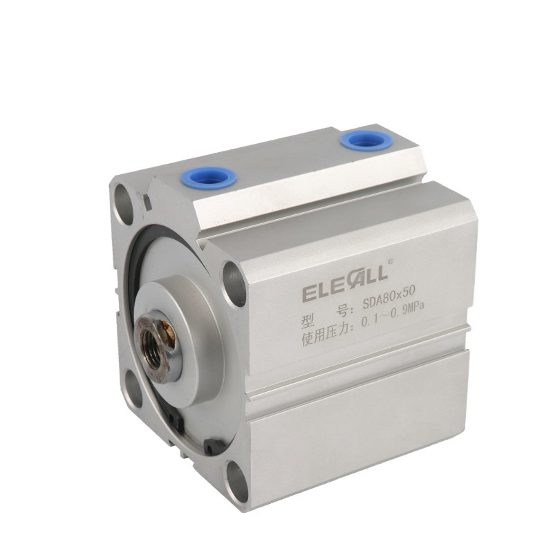 SDA80*25 / 80mm Bore 25mm Stroke Compact Air Cylinders Double Acting Pneumatic Air Cylinder