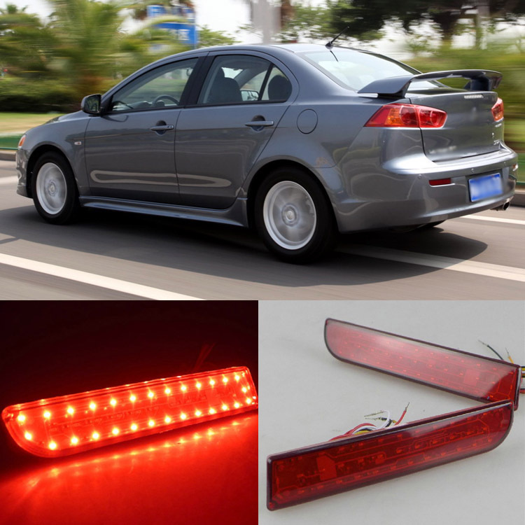 Ownsun Trans-Dynamic LED Reflector Rear Tail Light Bumper For Mitsubishi Lancer-Ex V3
