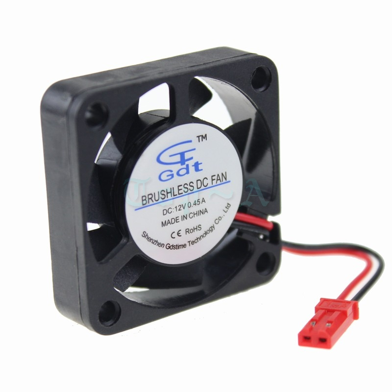 5 pcs Gdstime High Speed 4010 DC 12V Ball Bearing Cooling Fan 4cm 40x40x10mm JST Connector for RC Model PC Case Cooler delta 4010 asb0412ha fk2 7372 hydraulic bearing cooling fan with 40 40 10mm 12v 0 1a 3 wires for bridge chip