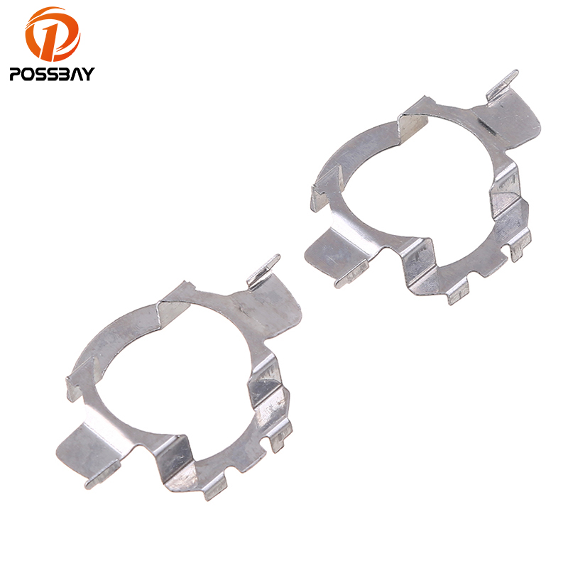 POSSBAY H7 LED Adapters Base For Mercedes Benz Nissan Opel Chevrolet Audi VW Jetta, Passat Car Headlight Bulbs Holder Silver