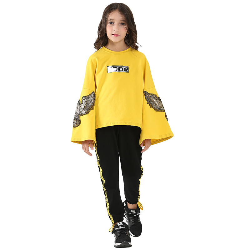 GirlGirl Suit for 10 11 12 13 14 15 16 5 Years 2018 Fashion Children Clothing Set Coat + Pant 2pcs Spring Autumn Girls Clothes cheapest  10 items  5 suit clothes   5
