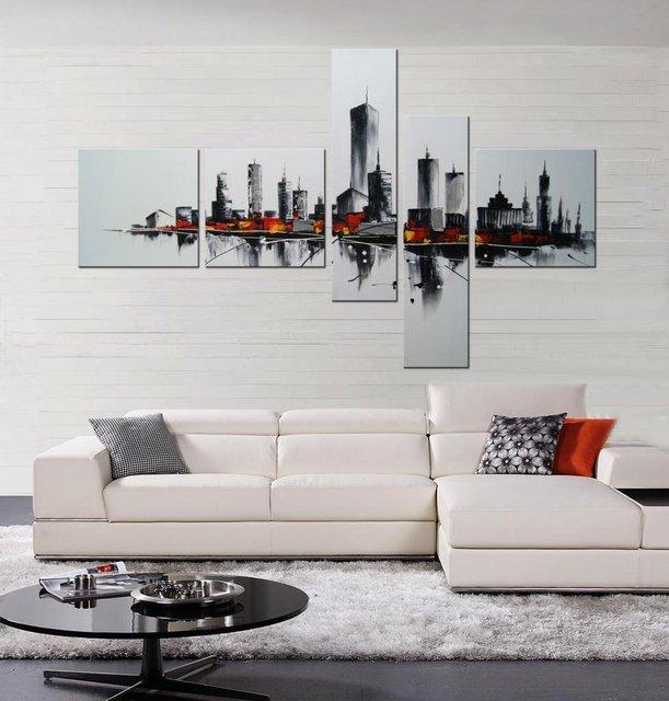 100 Ręcznie Malowane Zamożnych Miasta 5 Częściowy Galeria