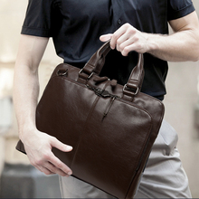 Leather Briefcases Men Messenger Brief Case  Business Handbags