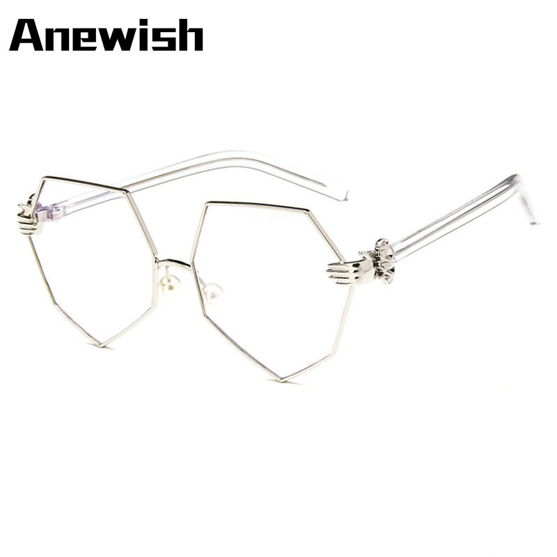 2016 anewish super light alloy prescription glasses frame retro clear optical rimless eye glasses frames