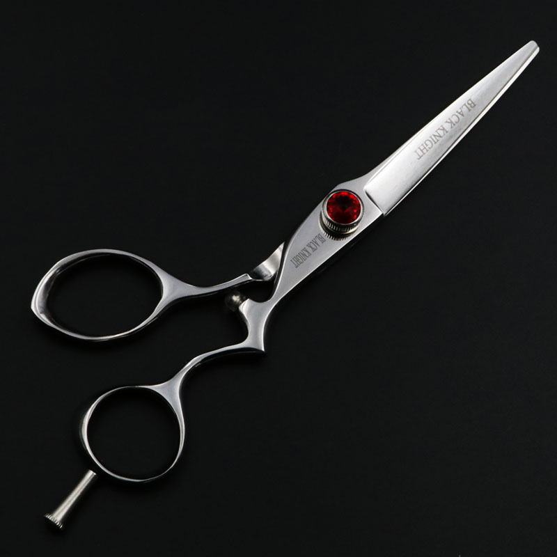 ФОТО Black Knight 6 inch Professional hair scissors hairdressing set  Barber Cutting shears Sapphire and ruby models