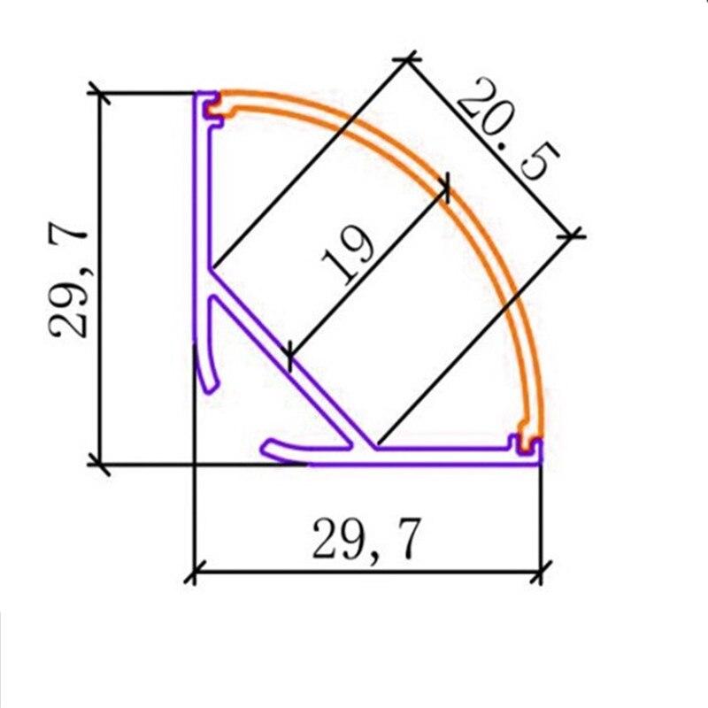 tiras e 40mm profundo u teto ou pendente 04