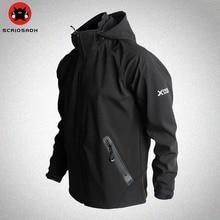 Уличные спортивные куртки из материала софтшелл, сетчатая дышащая быстросохнущая ветрозащитная куртка для кемпинга, походов, Мужская брендовая уличная походная куртка