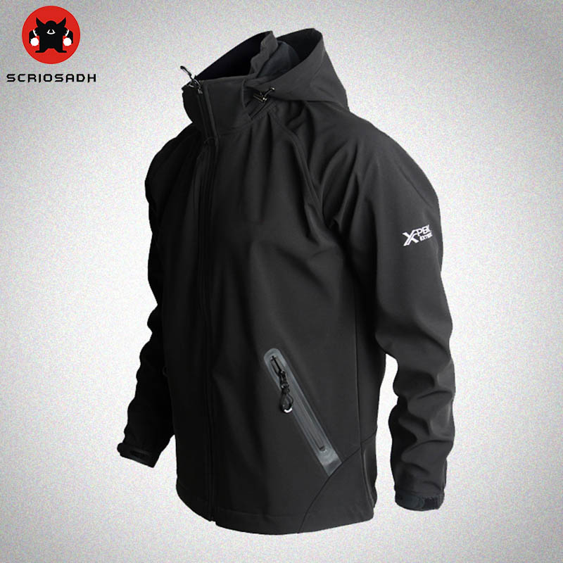Outdoor Sport Softshell Jackets Mesh Breathable Windproof Waterproof Jacket Camping & Hiking Men Brand Fleece Trekking Jacket