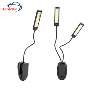 Book Light Lamp White Color Booklight Led Ebook Light Mini Flexible Clip-on Book Reader Reading Lamp Convenient(China)