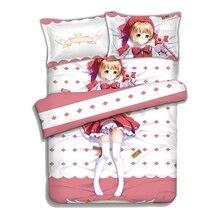 Japanese Anime Fate/Stay night Matou Sakura Bedding Sheet Sets Comforter Pillow Case 4PCS