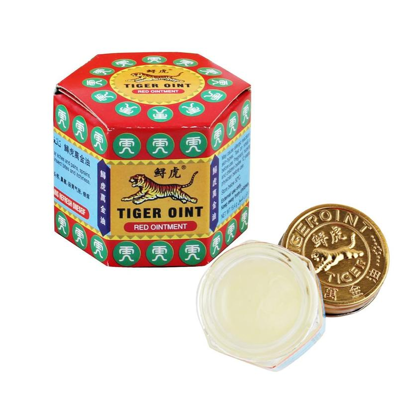 100% Original Thailand Painkiller Ointment White Tiger Balm Ointment Muscle Pain Relief Ointment Soothe Itch