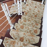 Hot Selling Non Slip Floor Staircase Carpets Stair Treads Protector Mats Stair Step Mat Arc Shape