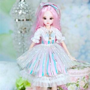 Image 5 - DBS Doll1/4 BJD Sữa Hoàng Hậu Tên Amenda Tóc Hồng Cơ Khớp Cơ Thể Bé Gái, SD