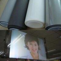 חומר מסך הקרנה אחורי הולוגרפית דבק עצמי סרט חלון עם גודל A4 צבע אפור בהיר