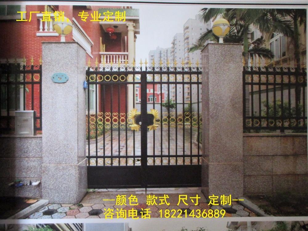 Custom Made Wrought Iron Gates Designs Whole Sale Wrought Iron Gates Metal Gates Steel Gates Hc-g68