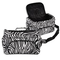 Professional Hair Tool Bag Zebra Design Hairdressing Salon Portable Tool Case For Hair Styling Tools Storage