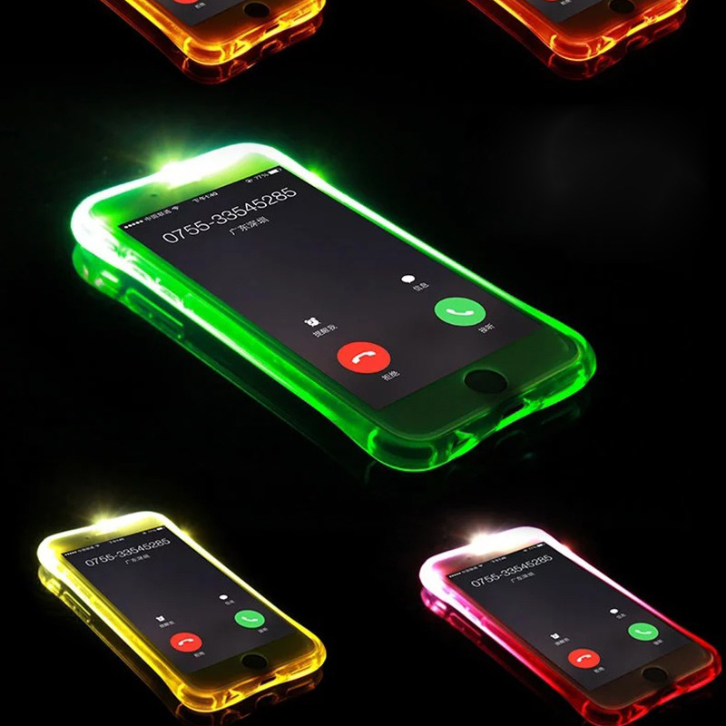 Soft TPU LED Flash Light Up Remind Incoming Call Cover For Samsung Galaxy J5 J7 A3 A5 A7 2016 S6 S7 Edge For iPhone 7 6 5 Case