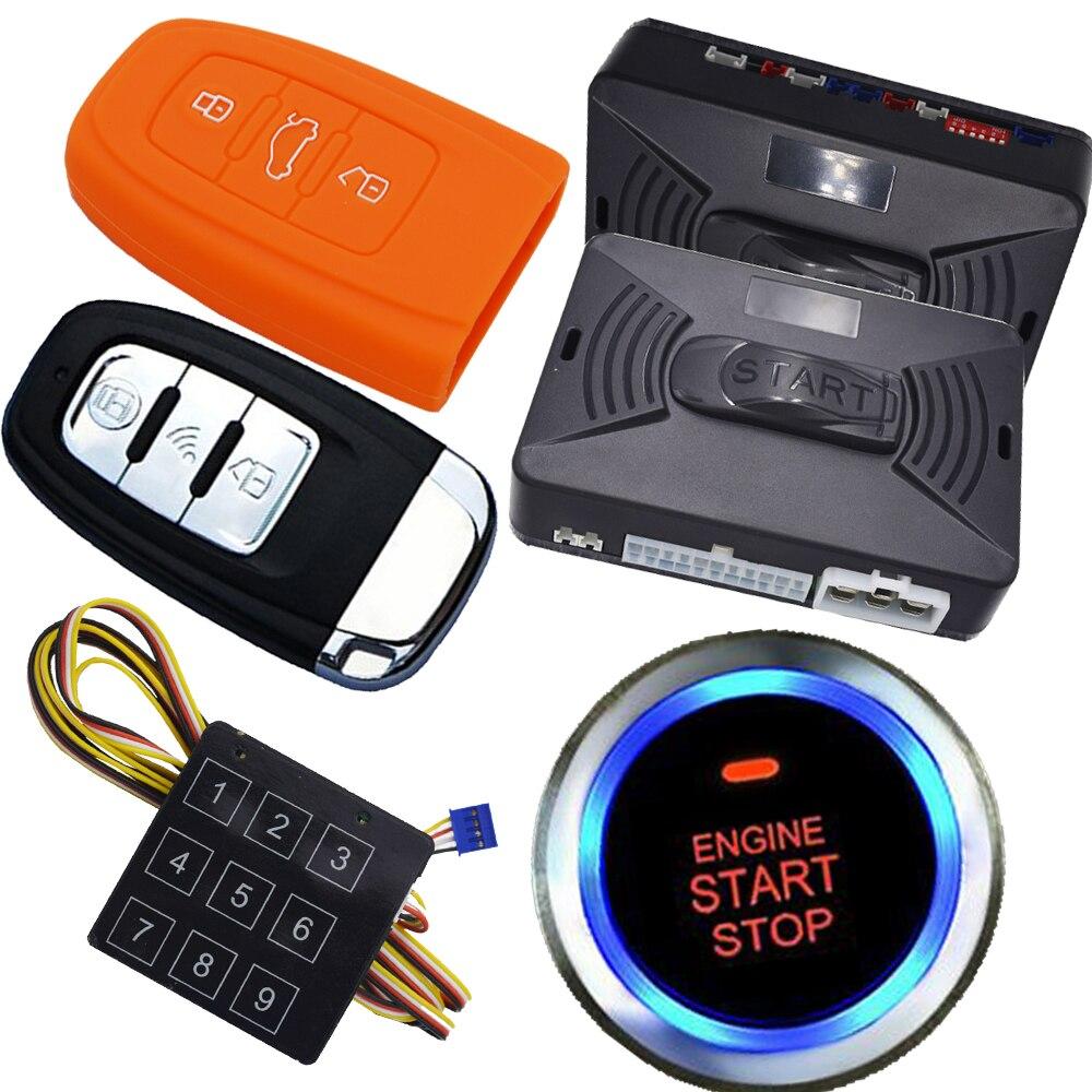 Système d'alarme antivol de voiture automatique avec bouton d'arrêt de démarrage du moteur système de verrouillage central automatique sans clé système d'alarme de voiture à distance automatique