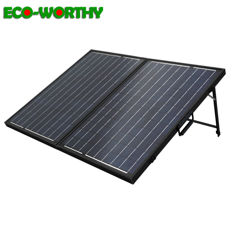 100W Poly Folding Solar Panel Cell for charge 12V battery RV Boat Camping solar energy system