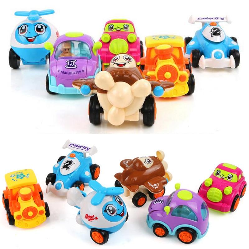 Ny tröghet Q-version av barn med tröghetsaktivitet leksak bil klassisk bil baby pedagogiska leksaker