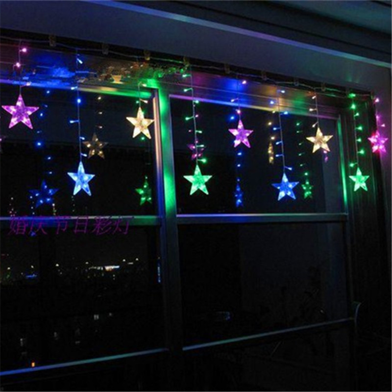 Fairy 3m leds LED Beads Curtain String light New Year Christmas Decoration lamp Wedding party chandelier lighting indoor outdoor
