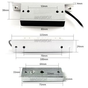 Image 3 - Remote Control 100lbs Embedded Magnetic Lock Mini 60KG Electromagnetic Lock + Remote Control + 12V Power Supply