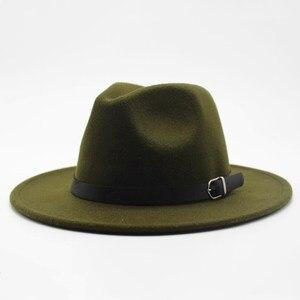 Brand oZyc Winter Autumn Imitation Woolen Women Men Ladies Fedoras Top Jazz Hat European American Round Caps Bowler Hats(China)