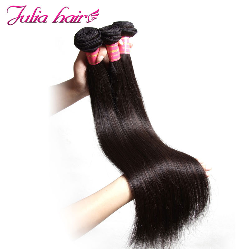Julia Hair 8 To 30 Inch Human Hair Bundles Malaysian Straight Hair Weave Double Machine Weft Remy Hair Extensions1pc 3pc 4pc Reliable Performance Hair Weaves