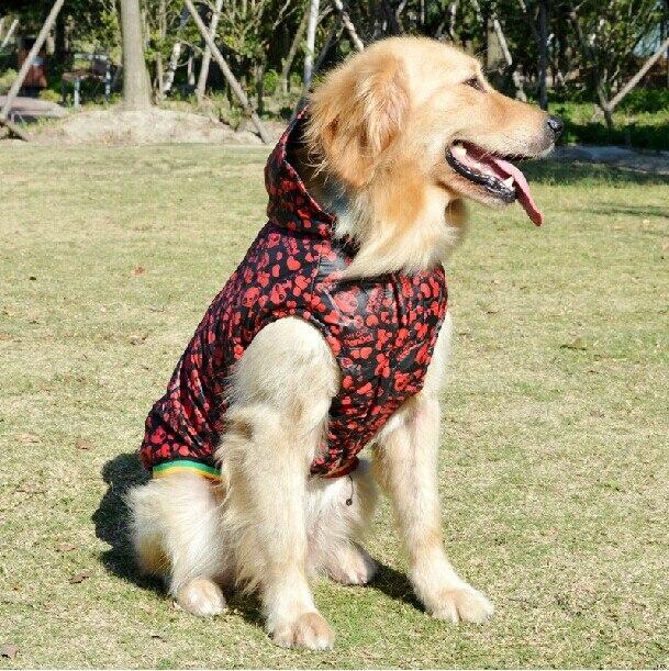 Large Big Dog Winter Clothes Golden Retriever Ski Coat Padding