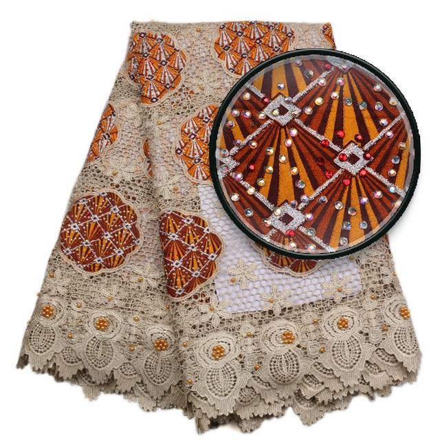 Embroidery Designs Nigerian Wedding Aso Ebi Styles Gold Mesh African