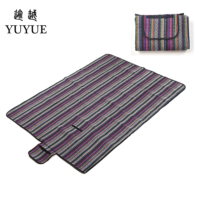 150*200cm  beach mat for tourist camping tent fishing picnic camping mat high quality folk style picnic mat camping equipment 4